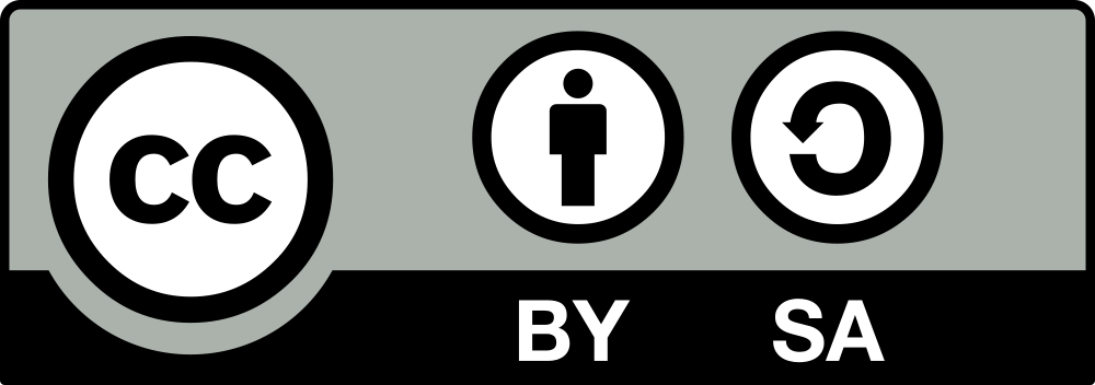 The Logo of the Creative Commons CC-BY-SA License.